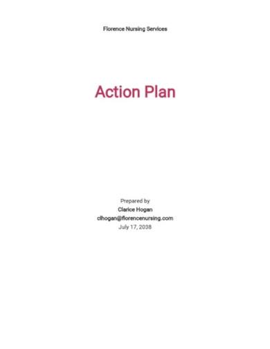 standard nursing action plan