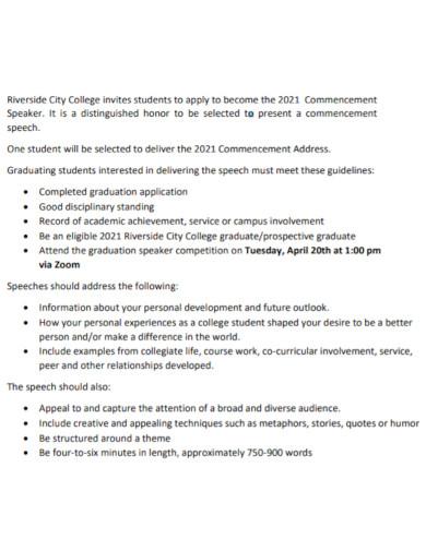 standard student commencement speech