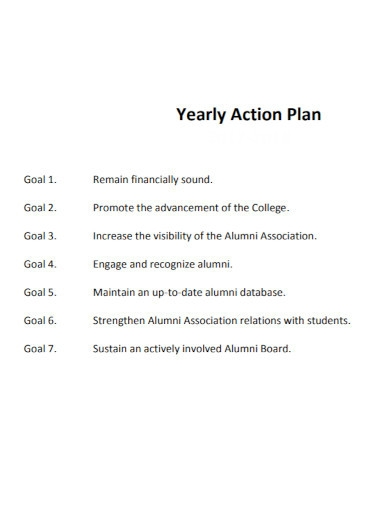 standard yearly action plans
