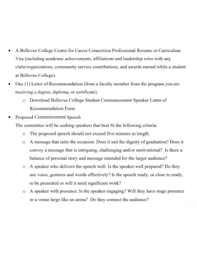 student proposed commencement speech