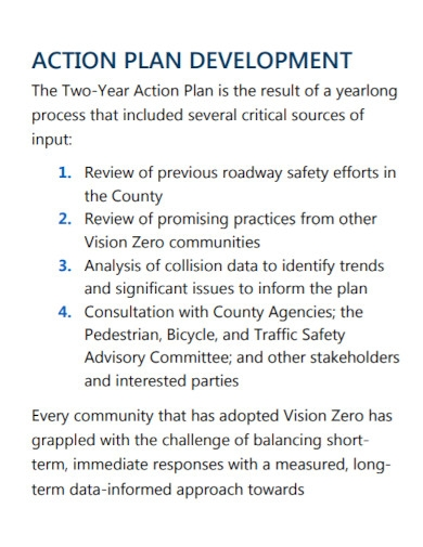 two yearly action plan