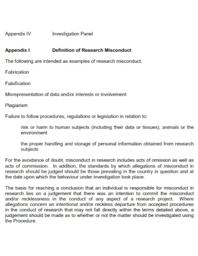 university research investigation report