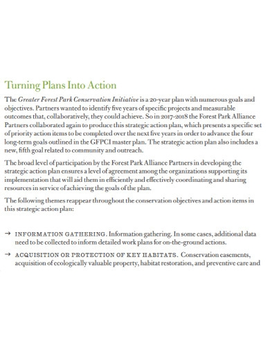yearly strategic action plan