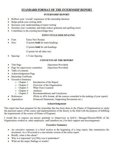 acknowledgement for internship report format