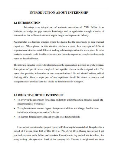 acknowledgement for university internship report