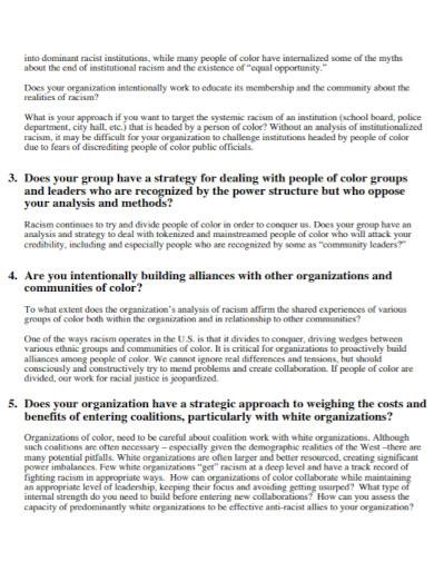 agenda organizational assessment