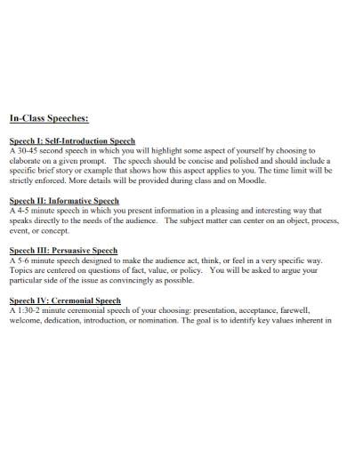 basic self introduction speech