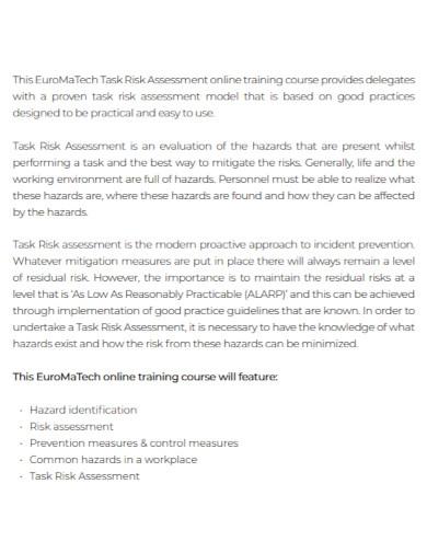 basic task risk assessment