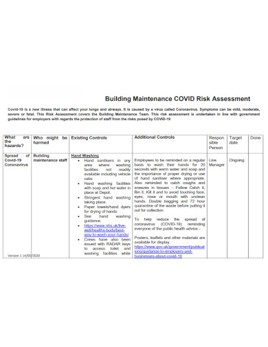 building maintenance risk assessment