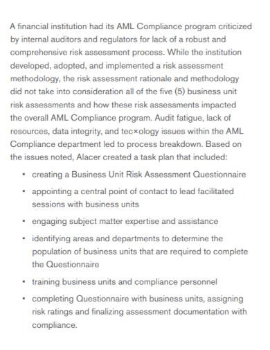 business unit risk assessment