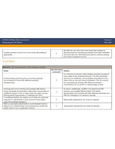 covid 19 office risk assessment