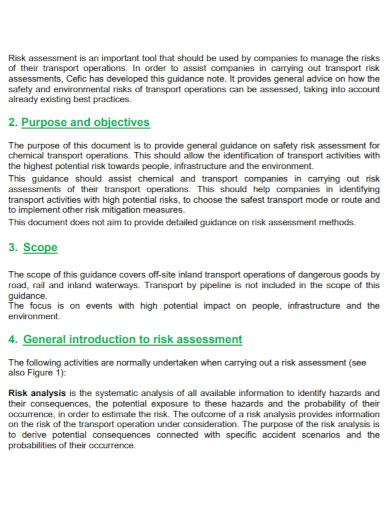 chemical transport risk assessment