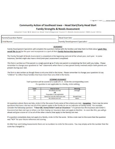 community family needs assessment