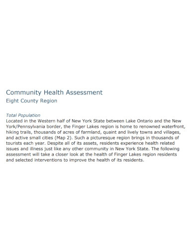 community health assessment template