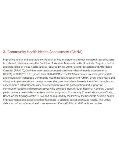 community health care assessment