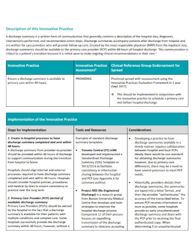 community hospital discharge summary