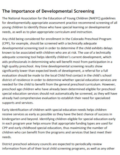 developmental assessment system
