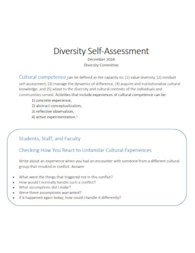 diversity self assessment