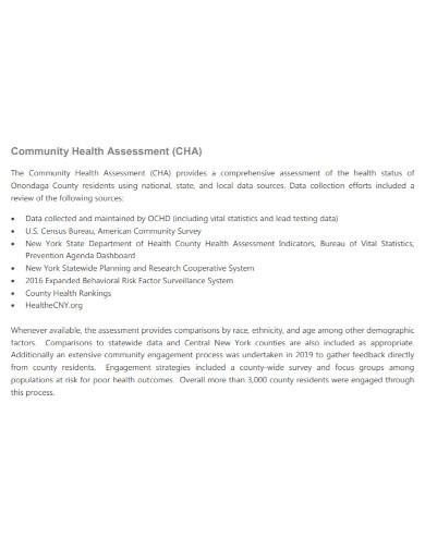 draft community health assessment
