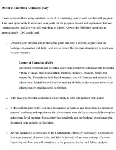 education admission essay