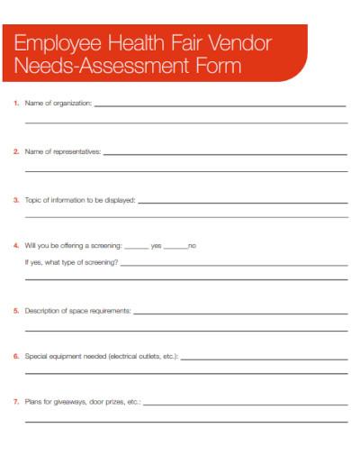 employee needs assessment form