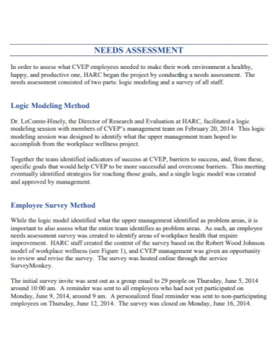 employee needs assessment in pdf
