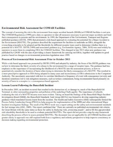 environmental risk assessment in pdf