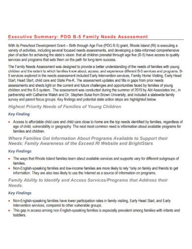 family needs assessment in pdf