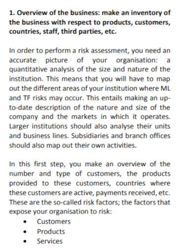 financial business risk assessment