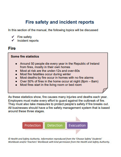 fire safety and incident report