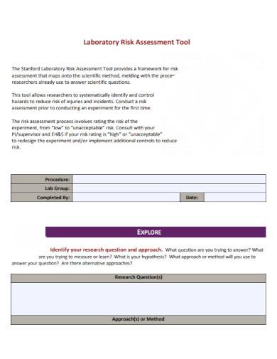 formal laboratory risk assessment