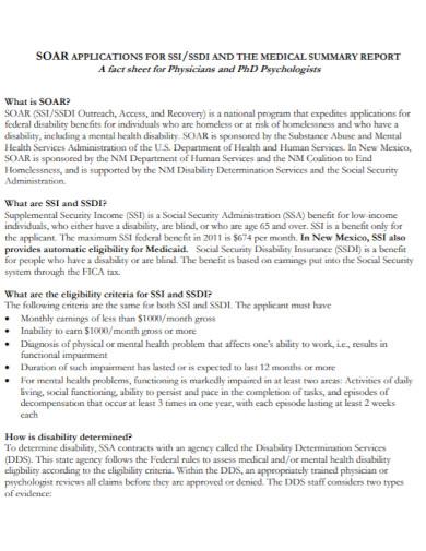 formal medical summary report