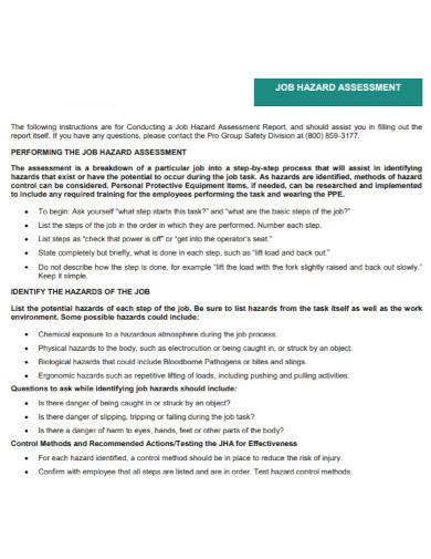 general job hazard assessments