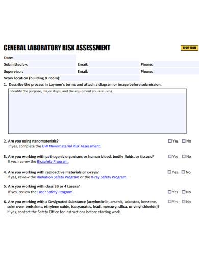 general laboratory risk assessment