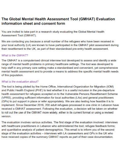 global mental health assessment