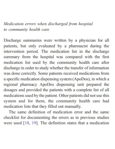 hospital management discharge summary