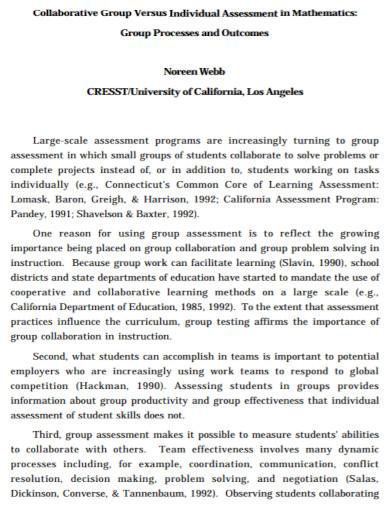 individual assessment in mathematics1