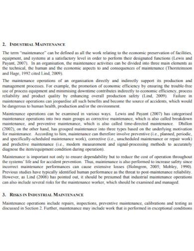 industrial maintenance risk assessment