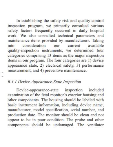 maintenance risk assessment in pdf