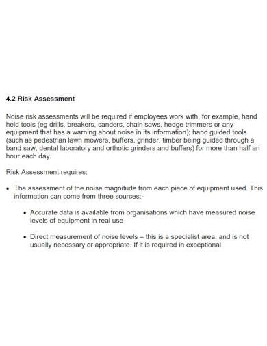 noise risk assessment in pdf