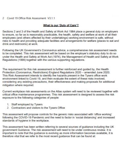 office risk assessment in pdf