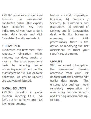 online business risk assessment