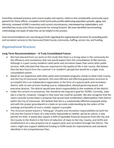 organizational assessment report