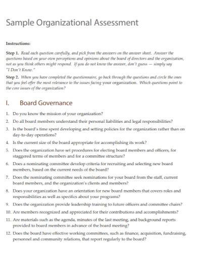 organizational resource assessment