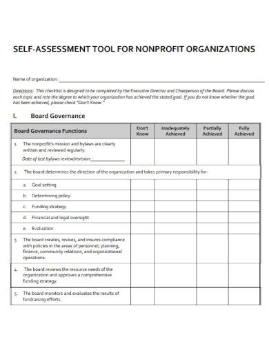 organizational self assessment