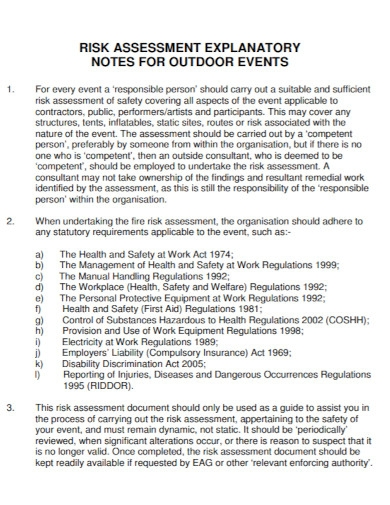 outdoor events risk assessment