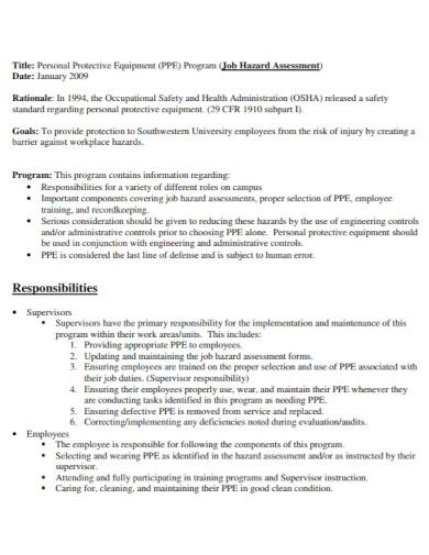 professional job hazard assessment
