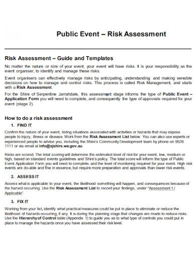 public event risk assessment