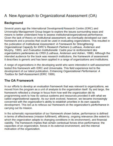 research organizational assessment