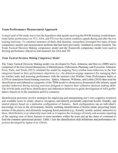research team performance assessment